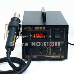 fast shippping ATTEN AT852D SMD Solder Station Soldering Iron Hot Air Gun Rework station 550W 220V FOR BGA SMD SOP PLCC