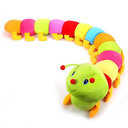 Wholesale MN cm Baby Toys Colorful Caterpillars Millennium Bug Doll Plush Toys Large Caterpillar Hold Pillow Doll