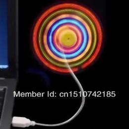 Оптовая продажа-OP-LED красочные мини гибкий USB Вентилятор охлаждения Cooler For Notebook Laptop PC B025 oqU8A