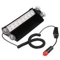 Wholesale Car White LED Dash Strobe Police Flash Emergency Light W