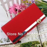 Wallets purse hardware - 2 Fashion Clutch Bag New Edition Matte Bow Purse Hardware Ladies Purse Wallet