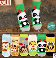 Wholesale New south Korean children YiChuan with thick socks The baby coral fleece socks Plush cartoon socks