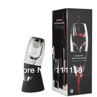 Wholesale 48 Fedex Hot Selling Magic Decanter Wine Aerator With Bag Hopper and Filter Red Wine Aerating Glass Decanter