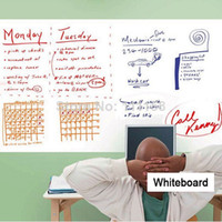 PVC wall board - In Stock x200CM PVC Whiteboard Wall Stickers Decals Vinyl Removable DIY White Board Sticker for Kids With Marker Pen Wiht Retail Packaging