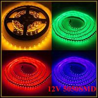 Wholesale RGB LED Strip Light Lamps For Bedroom Dining Room Living Room Hallway Hotel M V SMD LEDs Strip Waterproof IR Remote Controller