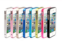 Wholesale iphone4 S phone shell iphone4s iphone4 phone shell metal frame color optional High quality