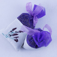sachet bag - Fragrant Dried Large Lavender Sachets Bags Organza Flower Scented Fresh Air Sachet Gift