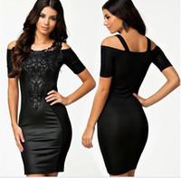 Wholesale Summer dress New Sexy Celebrity Womens Lady V neck Long Sleeve Wrap Slim Elegant Dresses MIDI Bodycon Autumn