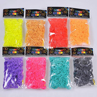 Fashion Bracelets OTHER 12bag lot FREE SHIPPING GLOW IN DARK LOOM BANDS bracelet 300bands+12clips+hook cheap sell Children rubber band silicone toys