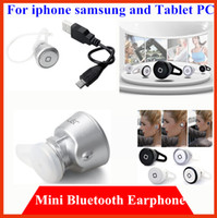For Apple iPhone Bluetooth Headset White Black Silver  50pcs lot MINI Bluetooth wireless Stereo earphone headphone Headset for iphone6 iphone5 samsung s5 s4 note3 Tablet PC With retail package