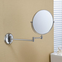 Wholesale 2014 Fashion Design Bathroom Safety Mirror high quality chrome plated metal cosmetic mirror