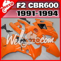 Cheap Welmotocom Aftermarket ABS Fairing For Honda CBR600F2 CBR 600 F2 1991 1992 1993 1994 91-94 Body Kit Orange H21W23+5 Free Gifts