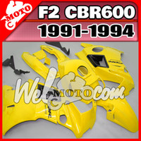 Comression Mold For Honda CBR600 F2 Welmotocom Aftermarket ABS Fairing For Honda CBR600F2 CBR 600 F2 1991 1992 1993 1994 91-94 Body Kit Yellow H21W24+5 Free Gifts
