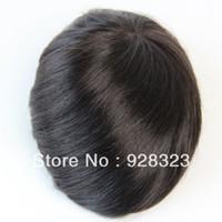 Wholesale Male toupee x10 Slight Wave good quality Indian hair toupee human Hair Toupee Men s Toupee Piece Replacement