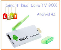 Wholesale Smart TV Player iPazzPort Mini PC Smart TV Box Android RK3066 Dual Core Cortex A9 G DDR3 G HDMI