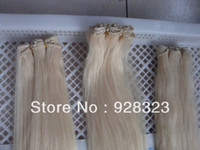 European Hair Straight Human Hair Hot Sell 100% Human Hair Extension WEFT HAIR WITH Micro Ring Beads HUMAN HAIR WEAVE Micro Ring Beads Wefts