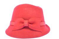 Wholesale 2014 fashion Autumn and spring hat female woolen flower bucket hats dome wool felt hat fedoras