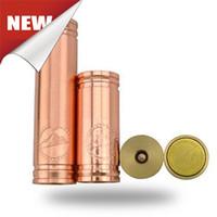 Non-Adjustable   Vanilla copper mod Mechanical Clone Copper Vanilla Battery mod penny Tube ecig vaporizer pen ecig VS stingray 26650 panzer with DHL shipping