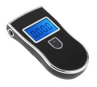 Wholesale Prefessional Police Digital Breath Alcohol Tester battery the Breathalyzer Dropship Parking Car Detector Gadget