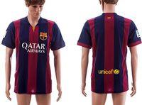 Wholesale BarcelonaSoccer Jerseys FootballJersey Uniforms Kits20142015 Season Clothing DiscountT ShirtsCheapThailand Custom Tops Player Home