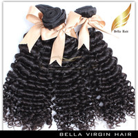 Wholesale Malaysian Virgin Human Hair Extensions Kinky Curly Remy Human Hair Weave Queen Beauty Products Cheap Bellahair Natural Color PC A