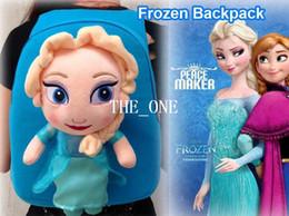 Wholesale frozen girl anna elsa backpacks kids backpacks bag frozen bag plush doll frozen backpack frozen bag soft plush doll kids school bags