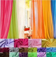 drapes curtains - 22 Colorful Sheer Voile Panel Drape Curtain Window Treatment Scarf Valance FG13004