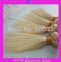 Cheap Queen Hair Products Color #613 Blonde Brazilian Hair Extensions Brazilian Virgin Hair straight 3-4 Pcs Human Hair Weaves