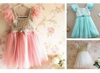 baby girl kids Frozen dress sequin dress flower tutu dress f...