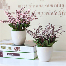 Wholesale Artificial potted planter Artificial plant with ceramic vase