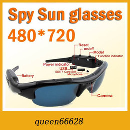 Wholesale hidden spy sungals camera with picture Mini DV DVR Sun glasses Camera Audio Video Recorder