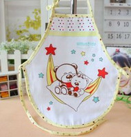 Cotton Beige Cartoon The new 2014 gauze double circular chinese-style chest covering The baby bib Pure cotton chinese-style chest covering 450 this summer
