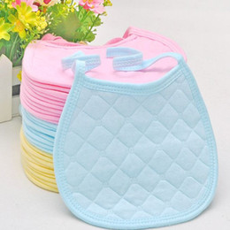 Wholesale 20pcs Free Shiping Baby Products Baby Bibs Infant Saliva Towels Baby CottonTied Bib Round Corner Bib Cloths Burp Cloths