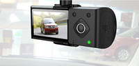 Wholesale Car Dvr inch X3000 Dual Lens with GPS Degree Camera Recorder