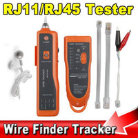 Wholesale 2014 High Quality RJ11 RJ45 Cat5 Cat6 Telephone Wire Tracker Tracer Toner Ethernet LAN Network Cable Tester Detector Line Finder