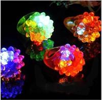 Unisex big beam flashlight - LED Finger Light Strawberry LED Ring Light Ring Torch Led Ring Flashlight Ring Lights Flash Beams Light Halloween Party LED Toys Wedding