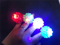 Unisex big jelly - New Arrival LED Ring Light Ring Flash Light LED Mitts Cool Led Light Up Flashing Bubble Ring Rave Party Blinking Soft Jelly Glow Party Favor