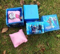 Frozen watch kids fashion quartz cartoon Jelly Candy led wit...
