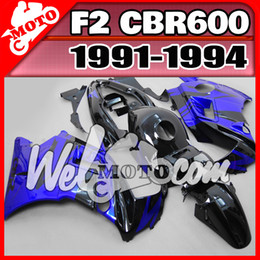 Wholesale Welmotocom Aftermarket ABS Fairing For Honda CBR600F2 CBR F2 Body Kit Blue Black H21W56 Free Gifts