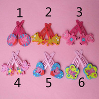 2014 Hot selling Mixed Peppa pig hairpin clip George pig pep...