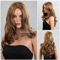 Wholesale good quality hair weaves long blonde wigs for women long wig Synthetic fiber of Kanekalon pc ZL516 H