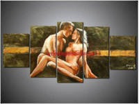 Abstract irregular abstract 100% Handpainted Huge Wall Art Sexy Naked Women Nude Girls Love Oil Painting on Canvas Picture