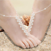 Wholesale High Quality Pearls Barefoot Sandals Beach Wedding Accessories Body Jewelry