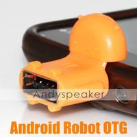 Compra Adaptador s2-Micro USB al adaptador OTG Adaptador Android Robot USB OTG para Samsung Galaxy S2 / S3 / S4 Conectar a USB Flash / Mouse / Teclado universal 100pcs / lot