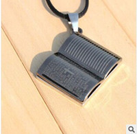 Wholesale fashion jewelry pendant item Nepal America titanium steel charm Christian Bible religious jewelry