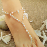 Wholesale Fashion Pearls Barefoot Sandals Beach Wedding Accessories Body Jewelry