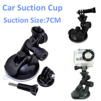 Wholesale Gopro Mount Accessories Car Suction Cup Mount Holder Tripod Head Base Mount Adapter Screw for Gopro Camera Hero