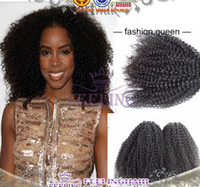 55gram/pc Brazilian Hair Natural Color 4pcs lot Afro Kinky Virgin Hair Extensions Human Hair Weave Brazilian Malaysian indian Virgin Hair Mixed Length Curly Weave Virgin Remy Hair