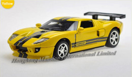 1:32 Alloy Diecast Car Model For Ford GT Toy Collection Powerful Pull Back With Sound&Light - Yellow   White   Red   Gray