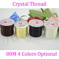 Wholesale Stretchy Beading Cord Wholesale - Jewelry string cord 80M Nylon Cord Elastic Beads Cord Stretchy Thread String For DIY Jewelry Making Beading Wire Ropes 4 colors optional